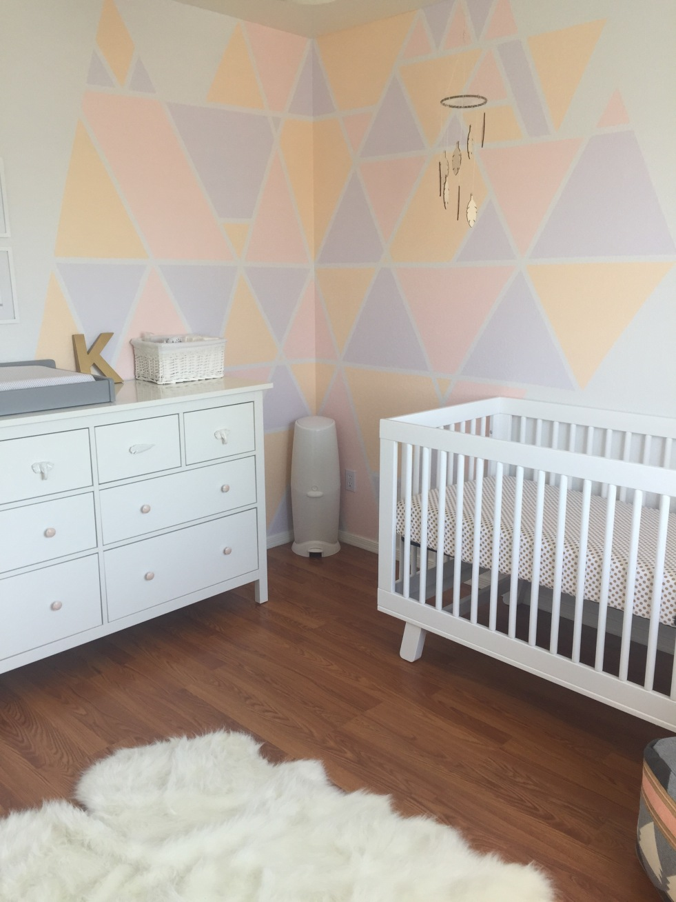 Geometric Nursery Walls